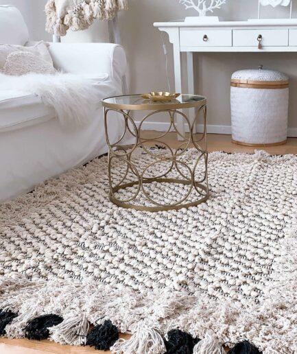 """Goldener Beistelltisch """"Casablanca"""" Gold im Bohemian Style ♥ Orientalisch inspirierten Sofatisch für die marokkanische Wohndeko online kaufen bei Soulbirdee Onlineshop"""