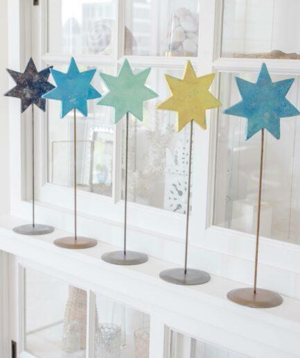 Deko Stern auf Ständer für die skandinavische Dekoration im Advent | dekorieren Onlineshop Soulbirdee | Weihnachtsdeko online kaufen