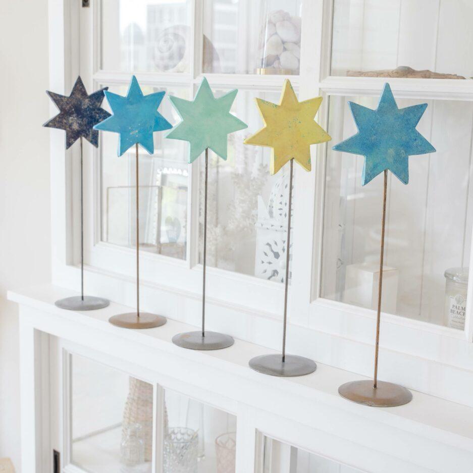 Deko Stern auf Ständer für die skandinavische Dekoration im Advent   dekorieren Onlineshop Soulbirdee   Weihnachtsdeko online kaufen