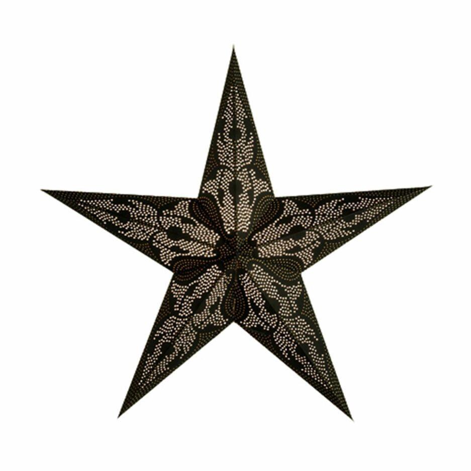 """Papierstern mit einem Lochmuster und einer Lichtquelle von der Marke Van Verre. Der Stern """"Damascus"""" ist 60cm groß, handgemacht. Soulbirdee.com"""