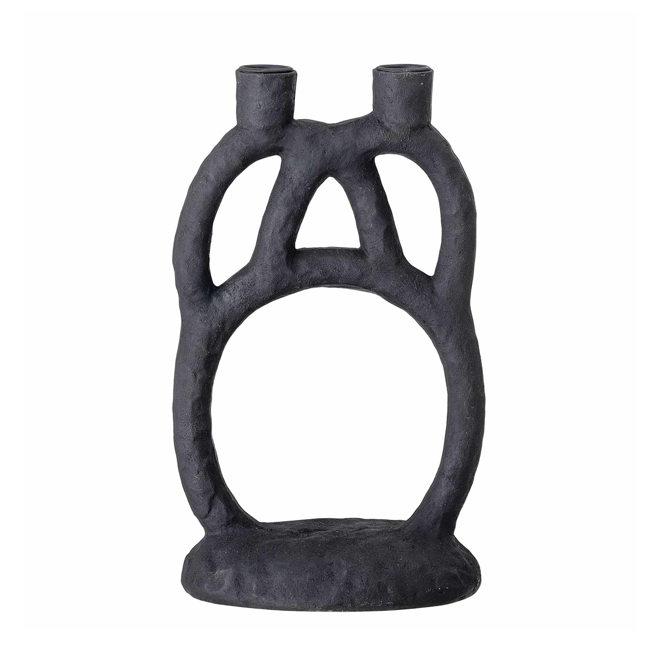 Schwarzer Kerzenhalter in verschlungener Form für 2 Kerzen ♥ eine ausgefallene Form, die 2 Kerzen trägt ♥ Schwarzen Kerzenhalter Online kaufen bei Soulbirdee Onlineshop
