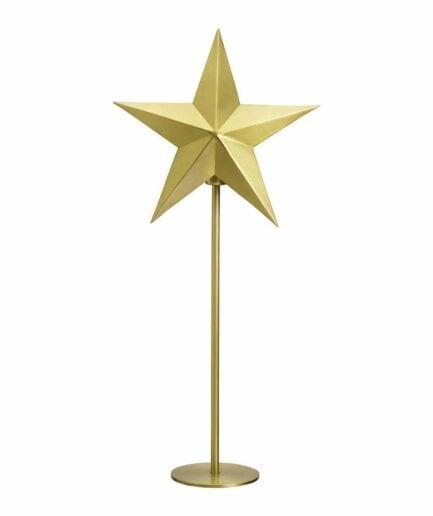 Tischlampe mit Stern aus Metall mit 76cm Höhe von der Marke PR Home aus Skandinavien. Stern-Lampe für die Weihnachtsdeko mit Stecker und Glühbirne