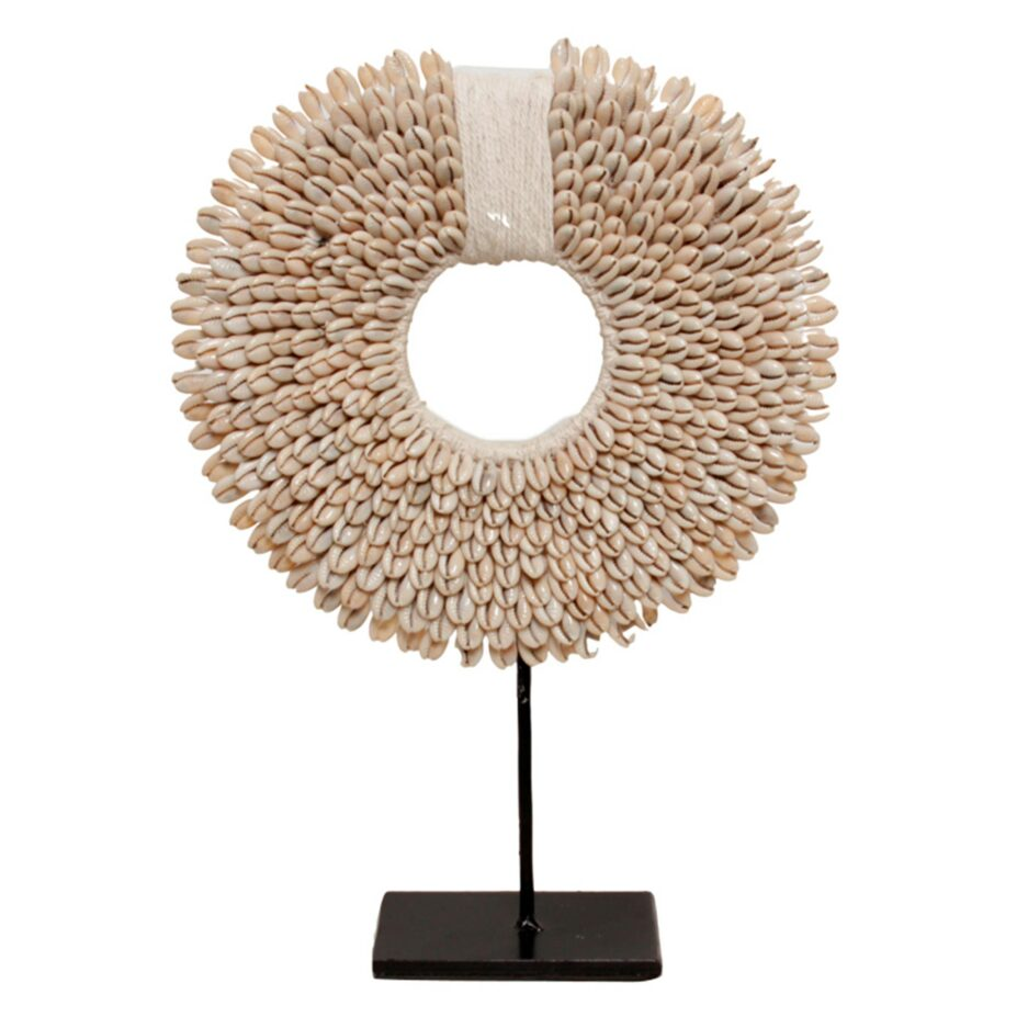 Dekoration aus Muscheln ♥ Wohndeko Muschelkette aus weißen Muscheln ♥ Extravagante Deko im Boho & Ethno Style im Soulbirdee Onlineshop kaufen