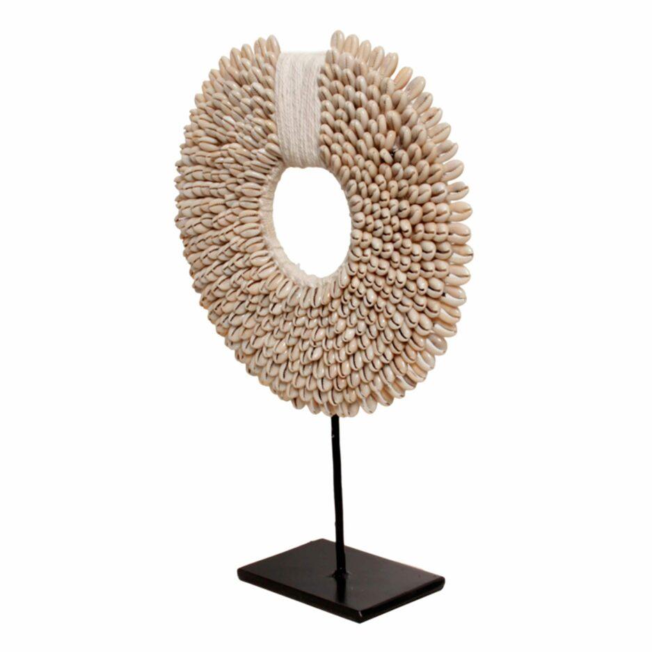 Dekor aus Muscheln ♥ Wohndeko Muschelkette aus weißen Muscheln ♥ Deko im Boho Style & Ethno Style im Soulbirdee Onlineshop kaufen