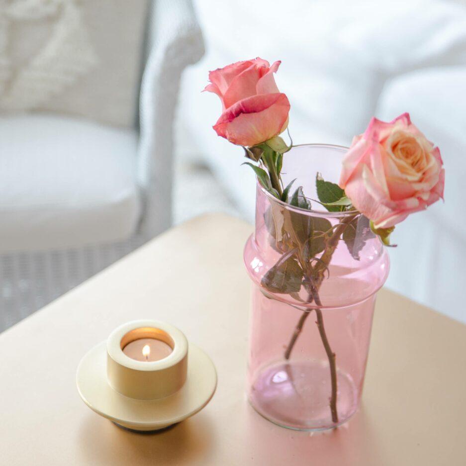 Orientalische Vase in Pink aus Glas für Blumen | Urban Nature Culture