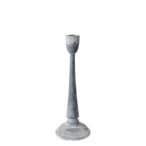 Kerzenständer aus Eisen mit 28cm Höhe im Shabby chic / Landhaus Wohnstil. Kerzenhalter aus Metall in Grau in vielen Größen bei Soulbirdee kaufen
