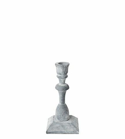 Kerzenhalter aus Eisen mit 17 cm Höhe im Shabby chic Wohnstil von der Marke Affari. Kerzenständer im Landhausstil bei Soulbirdee kaufen