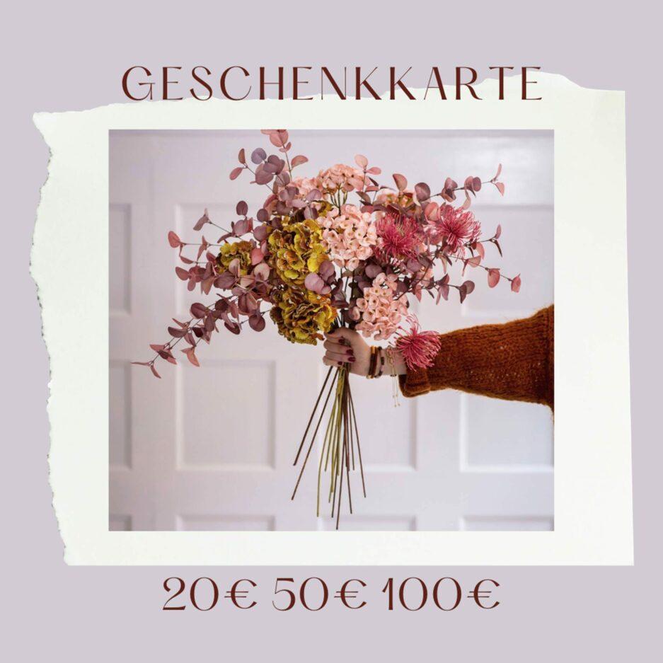 Geschenkgutschein mit 20€, 50€ und 100€ für Dekoration im Onlineshop Soulbirdee kaufen. Jetzt Freude verschenken und Wohnglück schicken