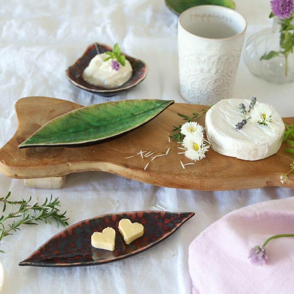 Teller für Brot & Butter in Blattform