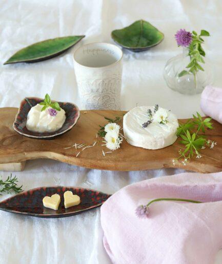 Dipschälchen und Teller für Butter