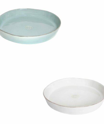 Runde Kuchenform ♥ Tarte-Form zum Backen & hübschen Servieren ♥ weisse Quiche-Form, Pie-Form für Ofen, Mikrowelle, Geschirrspüler ♥ Onlineshop
