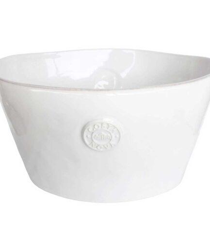 Sektkühler Schale in ovaler Form ♥ aus weißem Steinzeug mit schickem Logo-Branding passend zum Geschirr von Costa Nova ♥ Getränke Kühler