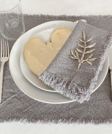 Teller Goldenes Alchemilla Blatt ♥ Tortu Geschirr GOLD ♥ Christian Tortu Design by Costa Nova online kaufen bei Soulbirdee Onlineshop