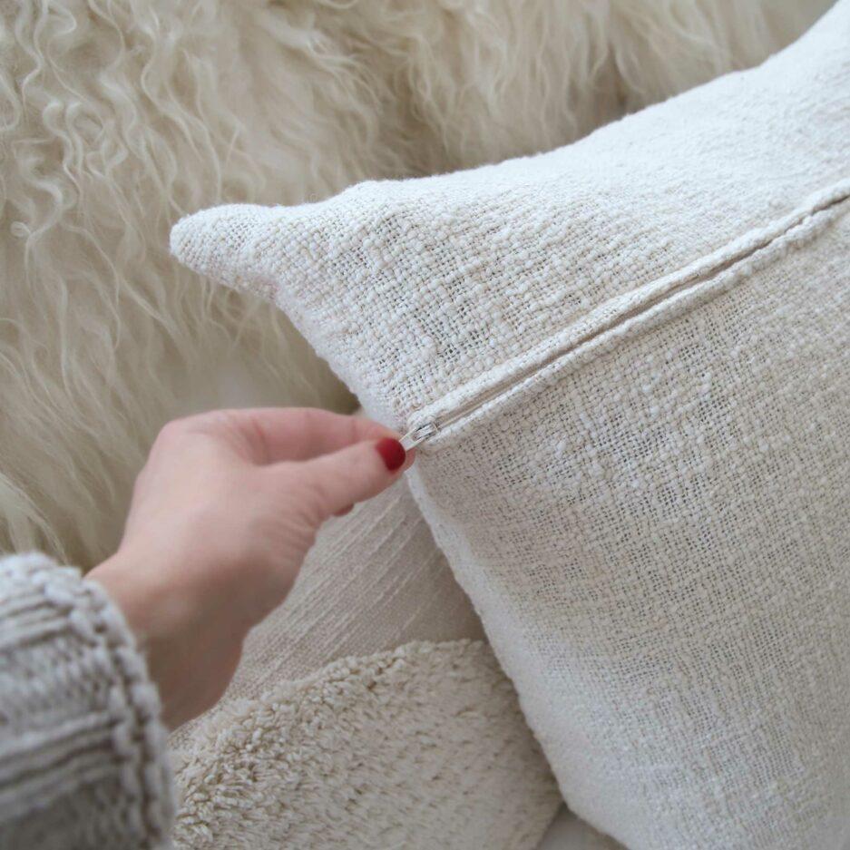 Kissenhülle Detail Reissverschluss verdeckt