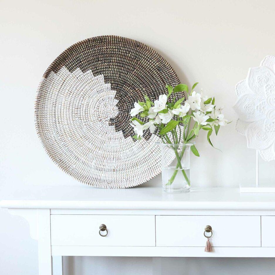 Wanddeko YingYang ♥ Grosser Wandteller als Dekoration für das Wohnzimmer. Boho Deko online kaufen , Soulbirdee Onlineshop für Deko & Interior