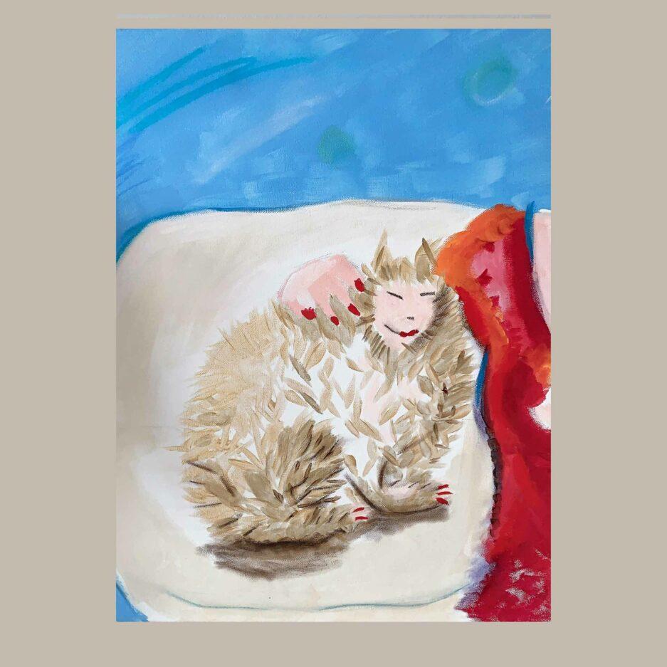 Katzenbildnis ♥ Gemälde als Wohndeko ♥ Malerei als Deko zum Wohnen im Ibiza Stil ♥ Bild kaufen bei Soulbirdee Onlineshop