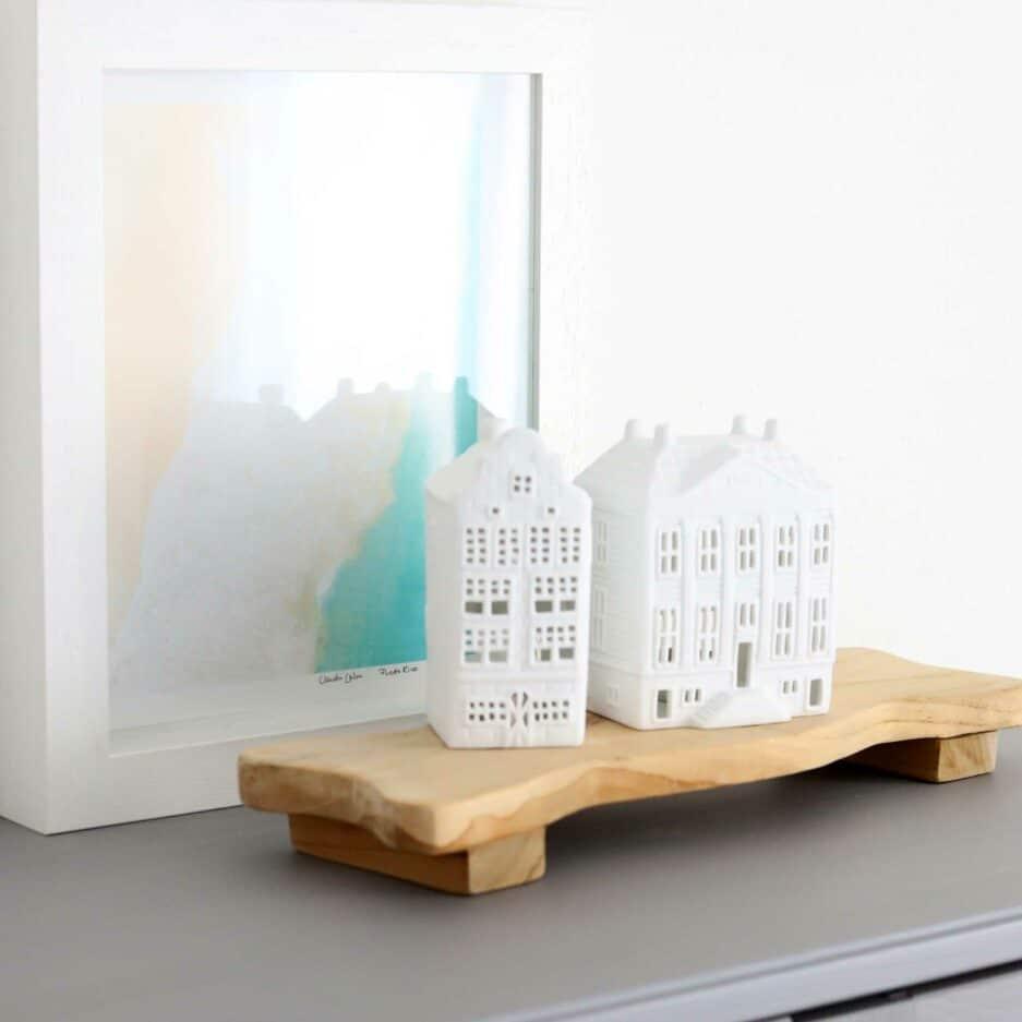 Grachtenhaus Amsterdam Villa aus Porzellan von Klevering   Lichthäuser