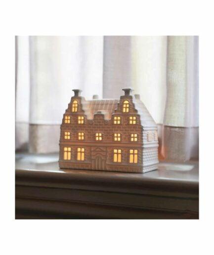Lichthaus Grachtenhaus Amsterdam für Teelichter aus der Kollektion von Klevering Amsterdam ♥ Kerzenhalter in der Form eines Haus | Kerzendeko kaufen