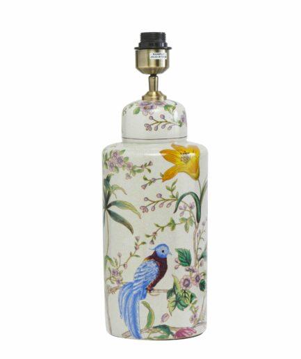 Vasen Lampe LiNa aus Keramik von der Marke PR Home. Tischlampe mit Lampenschirm im chinesischen Wohnstil von Soulbirdee | Pr Home kaufen