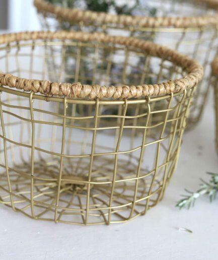 Metallkorb für Brot oder Pflanzen. Soulbirdee Onlineshop