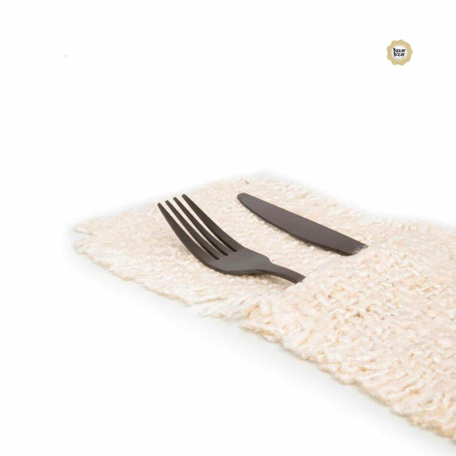 Besteck Tasche in Cream Weiss ♥ The Oh My Gee Cutlery Holder von Bazar Bizar | Tischdeko aus Baumwolle | Tischdeko online kaufen bei Soulbirdee Onlineshop