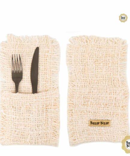 Besteck Tasche ♥ The Oh My Gee Cutlery Holder von Bazar Bizar | Tischdeko aus Baumwolle | Tischdeko online kaufen bei Soulbirdee Onlineshop