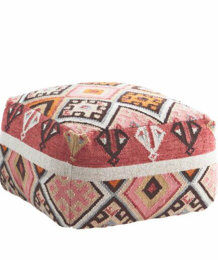 Pouf Mia Sitzkissen aus der Kollektion 2021 von Madam Stoltz online kaufen | Hocker aus einem marokkanischen Kelim | Soulbirdee Onlineshop
