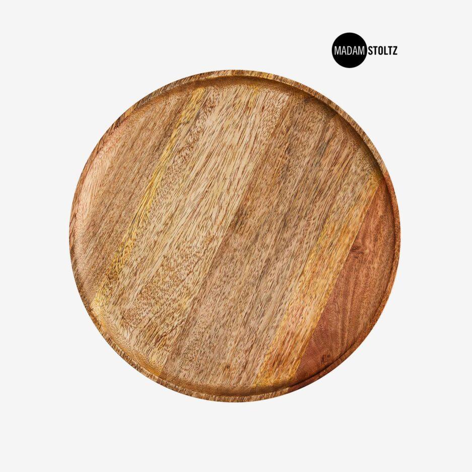 Runde Holzschale 35 cm aus Mangoholz. Handgemachte Schale aus Holz von MadamStoltz zum dekorieren / servieren. Holzschale Online kaufen, Holzschale Dekorieren Soulbirdee