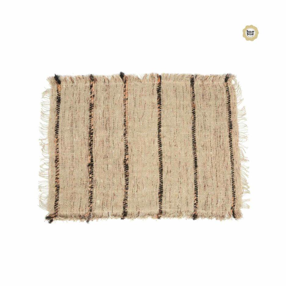 Beige-Schwarz The Oh My Gee Placemat von Bazar Bizar ♥ Boho Stil Tischsets