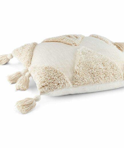 Marokkanisches Kissen 45 x 45 | Kissen mit Quasten und Skandi Muster. Quadratisches Dekokissen online kaufen | Liv Interior Kissen