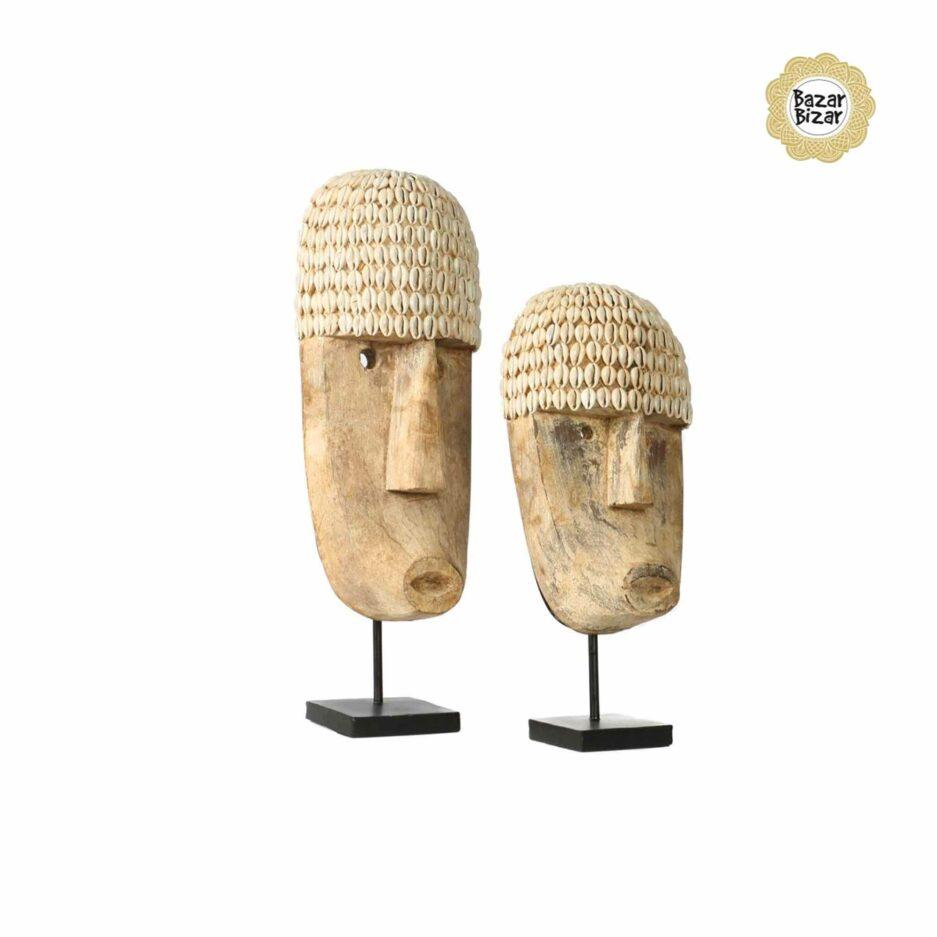 THE COWRIE Masken von Bazar Bizar | Tribal Kunst Statue von Bazar Bizar. Holzmaske kaufen bei Soulbirdee Onlineshop