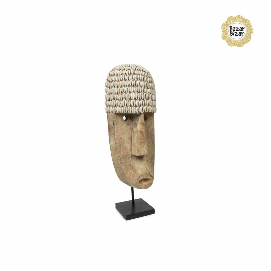 THE COWRIE Mask von Bazar Bizar | Statue von Bazar Bizar. Holzmaske kaufen bei Soulbirdee Onlineshop