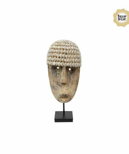 THE COWRIE Maske M | Statue von Bazar Bizar ♥ Tribal Deko Figur aus Bali, Holzfigur ♥ Boho Style Deko online kaufen im Soulbirdee Onlineshop