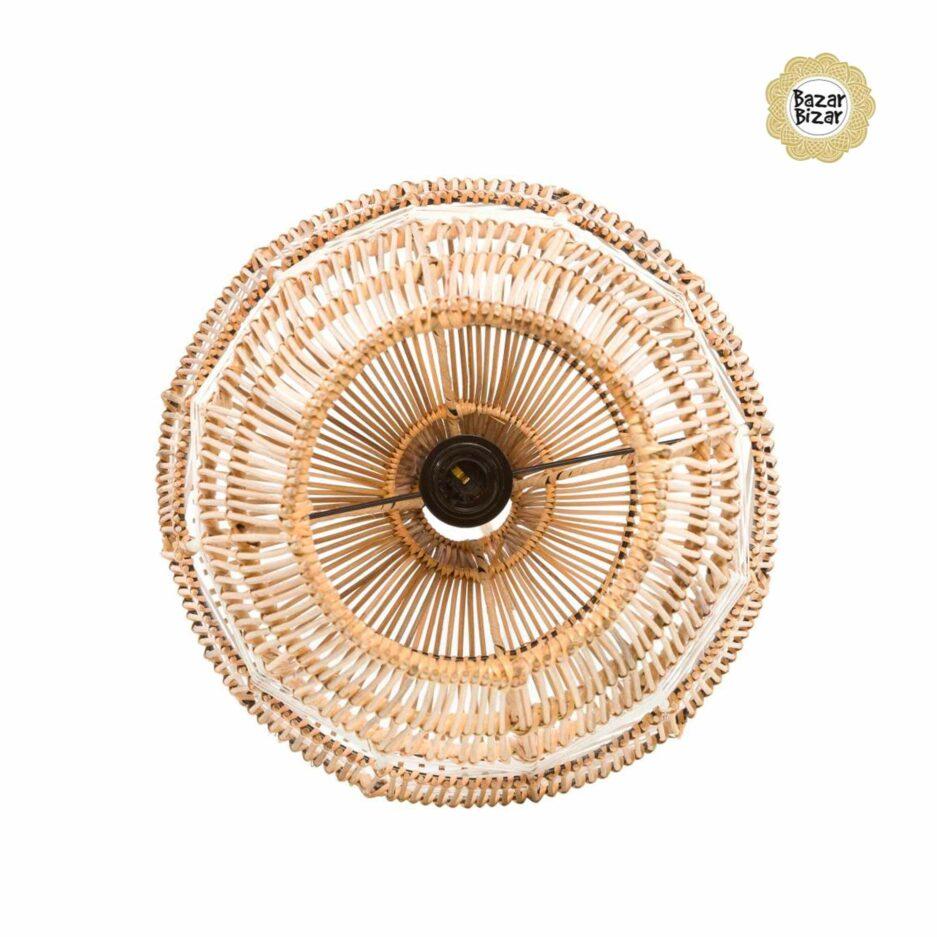 Vasenlampe aus Rattan ♥ Bazar Bizar Rattanlampe ♥ Hängelampe kaufen im Bohemian Design ♥ Bazar Bizar bei Soulbirdee Onlineshop