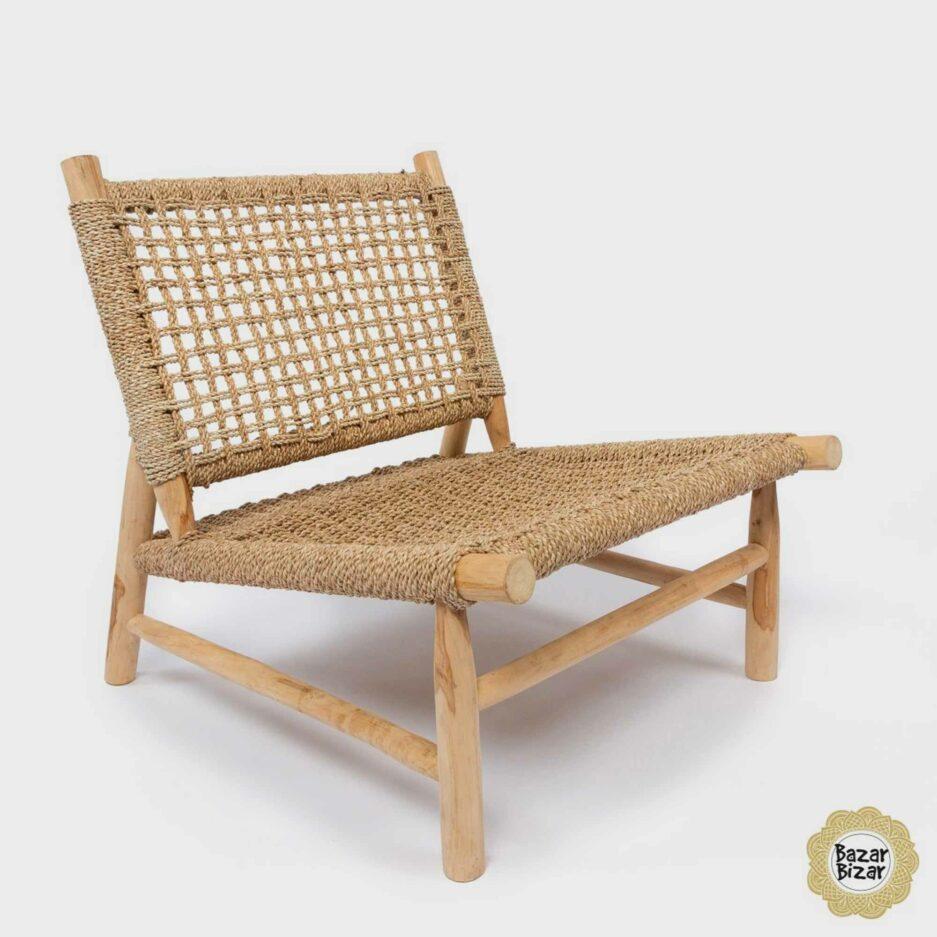 The Island Sisal One Seater ♥ Sessel aus Teak-Holz & Sisal von Bazar Bizar online kaufen ♥ Traumhaft schöne Boho Möbel bei Soulbirdee