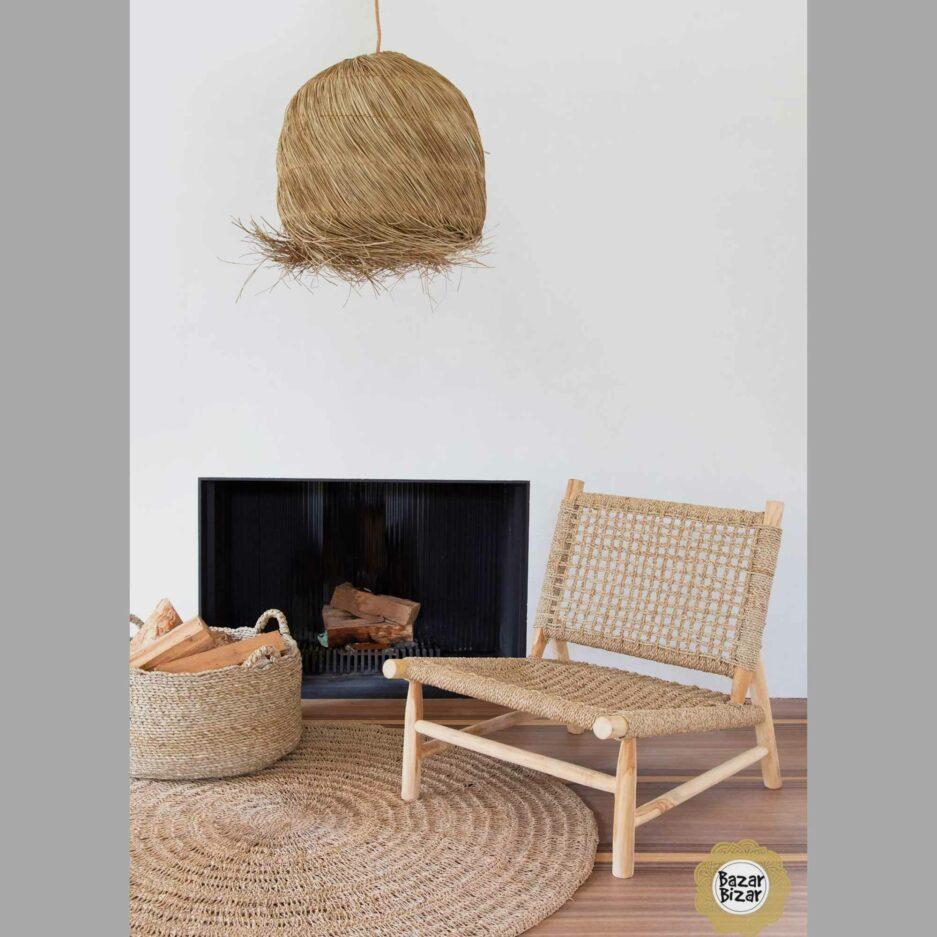 The Island Sisal Sessel ♥ Stuhl aus Teak-Holz & Sisal von Bazar Bizar online kaufen ♥ Traumhaft schöne Boho Möbel bei Soulbirdee