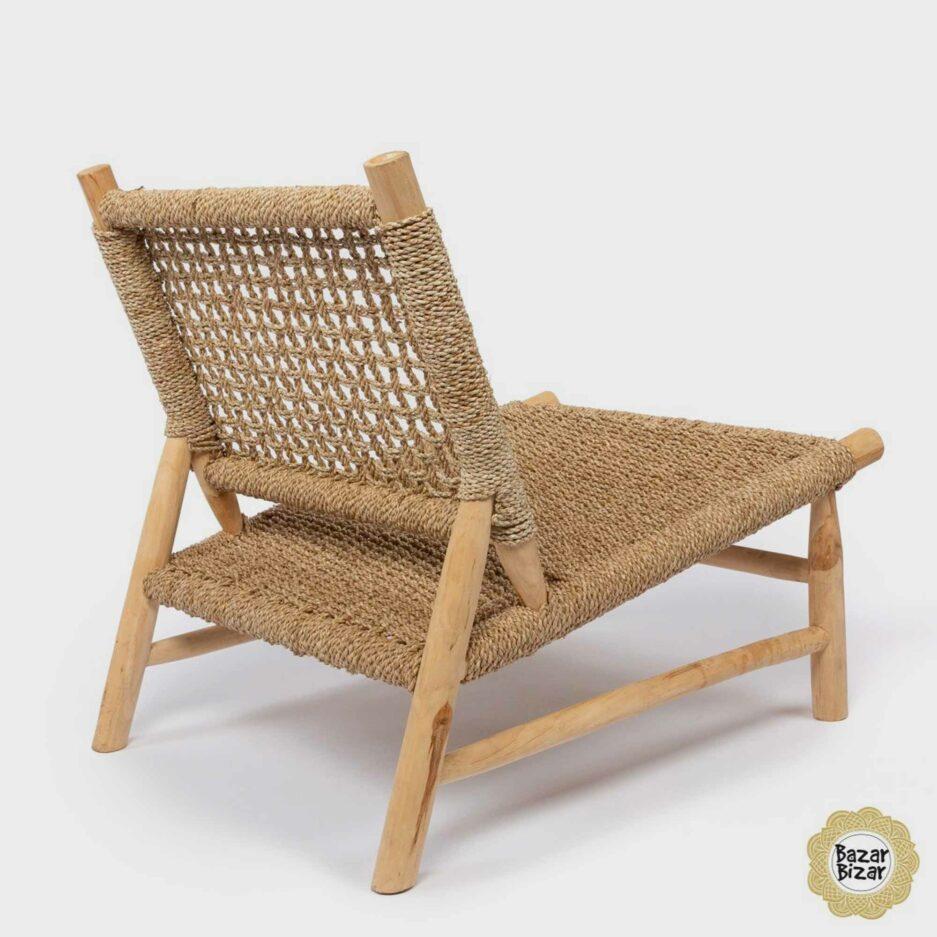 Sisal Einsitzer ♥ Sessel aus Teak-Holz & Sisal von Bazar Bizar online kaufen ♥ Traumhaft schöne Boho Möbel bei Soulbirdee