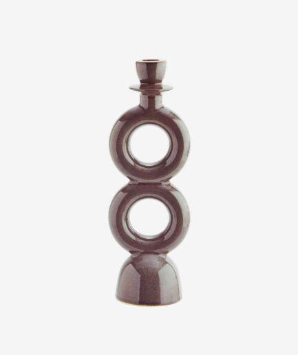 Skandinavischer Kerzenhalter in Grau. Skandinavische Kerzenständer finden Sie im Soulbirdee Onlineshop