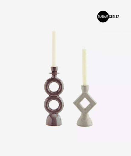 Skandinavische Kerzenhalter in Grau. Skandinavische Kerzenhalter finden Sie im Soulbirdee Onlineshop