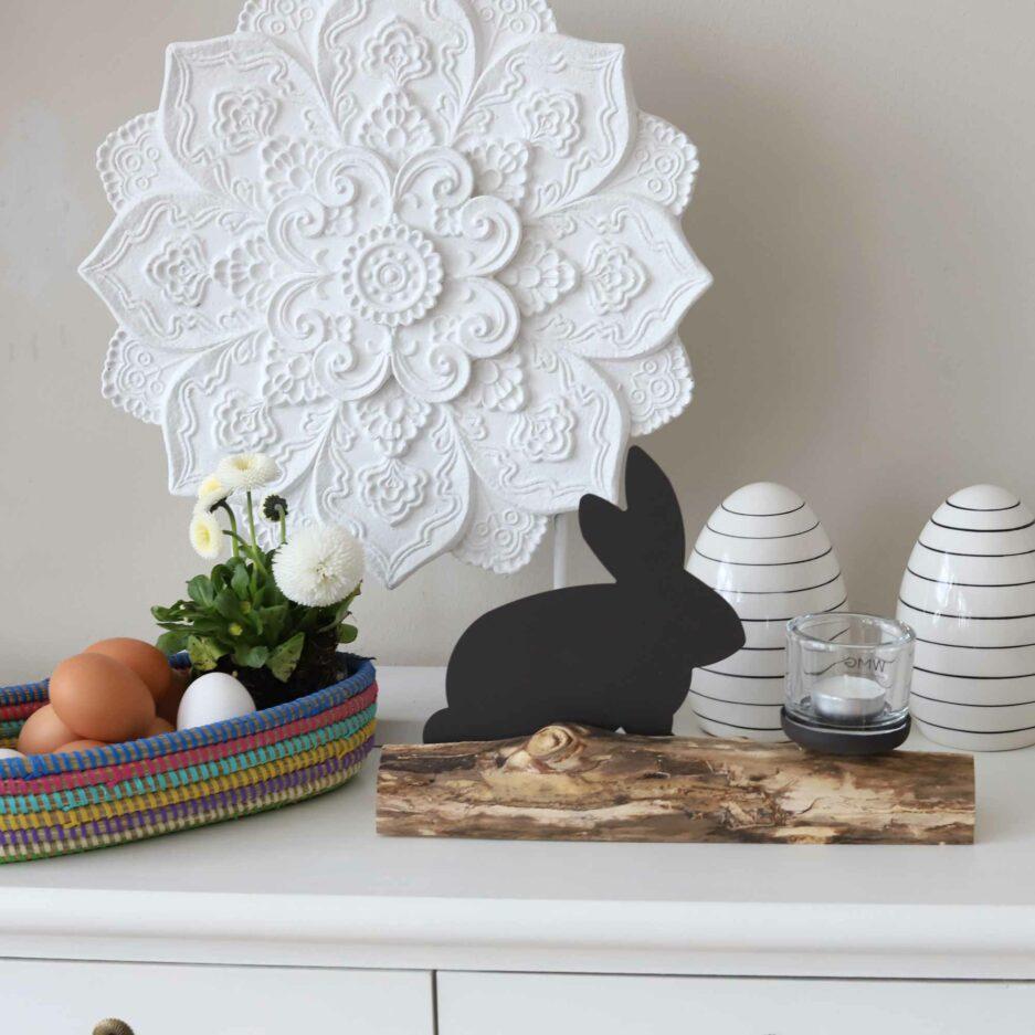 Osterdeko mit Hase | Kerzenhalter Hase ist unser Osterhase auf einem Ast mit hochwertigem Glas für ein Teelicht ♥ Osterhase & Osterdeko online kaufen | Soulbirdee