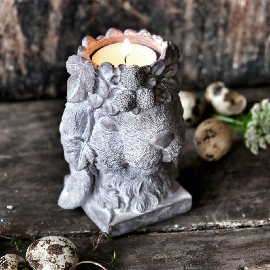 Ostern 2021 Hase Teelichthalter ♥ Ostern 2021 Deko im Landhausstil ♥ Romantische Osterdeko kaufen | Soulbirdee Onlineshop für Deko & Interior