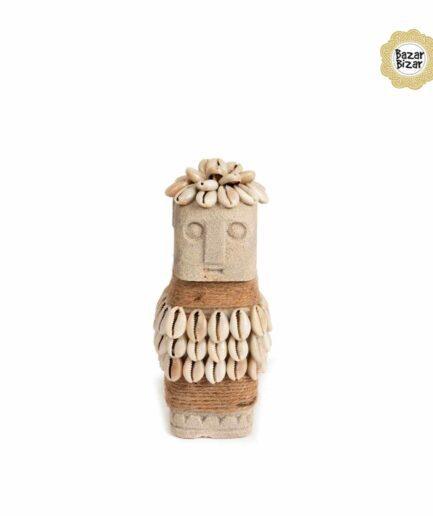 Sumba 33 Steinfigur Statue von Bazar Bizar ♥ Deko Figur Frau aus Sumba, Indonesien ♥ Boho Style Deko online kaufen im Soulbirdee Onlineshop