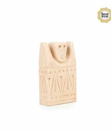 Sumba Stein Statue von Bazar Bizar ♥ Ethno Deko Figur aus Sumba, Indonesien ♥ Boho Style Deko online kaufen im Soulbirdee Onlineshop