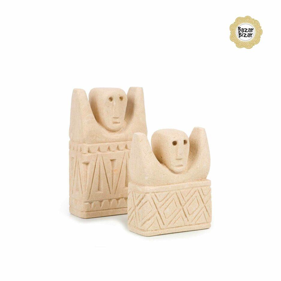 Kleine Stein Statuen von Bazar Bizar ♥ Ethno Deko Figur aus Sumba, Indonesien ♥ Boho Style Deko online kaufen im Soulbirdee Onlineshop