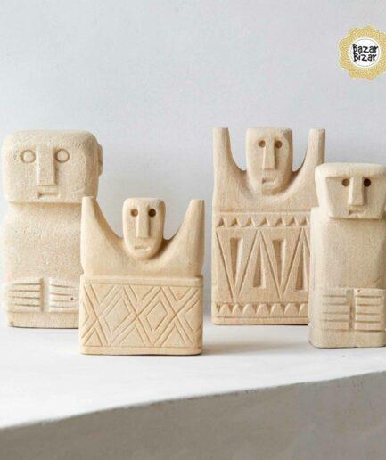 Tribal Stein Statuen von Bazar Bizar ♥ Ethno Deko Figur aus Sumba, Indonesien ♥ Boho Style Deko online kaufen im Soulbirdee Onlineshop