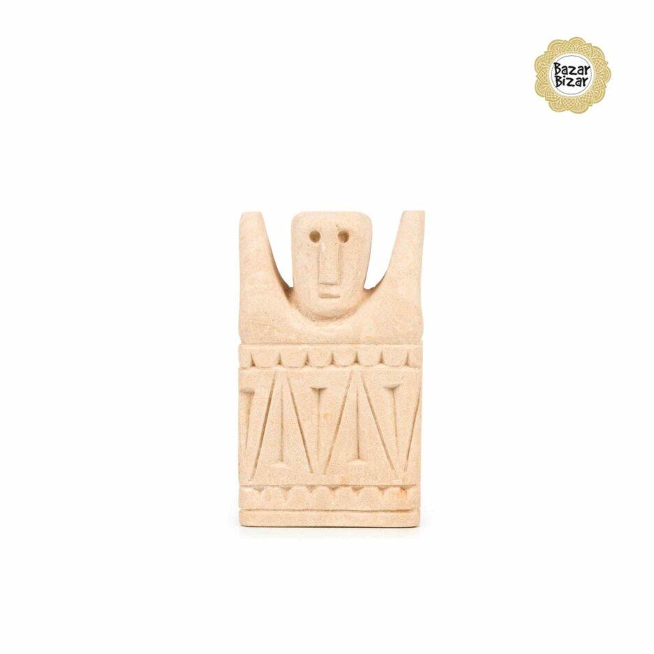 Sumba Stone Statue von Bazar Bizar ♥ Ethno Deko Figur aus Sumba, Indonesien ♥ Boho Style Deko online kaufen im Soulbirdee Onlineshop