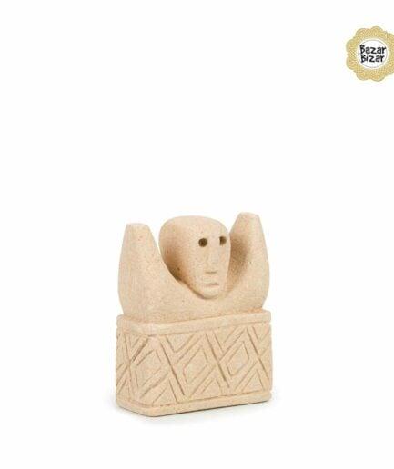 Sumba Stein Statue 17 von Bazar Bizar ♥ Ethno Deko Figur aus Sumba, Indonesien ♥ Boho Style Deko online kaufen im Soulbirdee Onlineshop