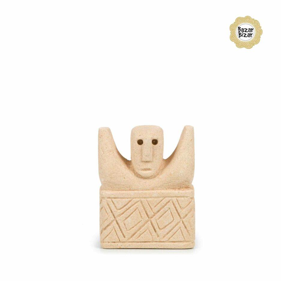 Sumba Stein Figur 17 von Bazar Bizar ♥ Ethno Deko Figur aus Sumba, Indonesien ♥ Boho Style Deko online kaufen im Soulbirdee Onlineshop
