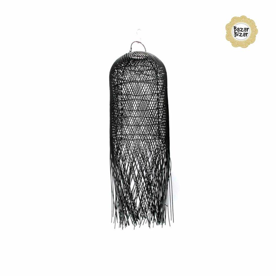 The Squid Pendant Black aus Allang Allang Gras von Bazar Bizar. Hängelampen im Bohemian Design von Bazar Bizar kaufen