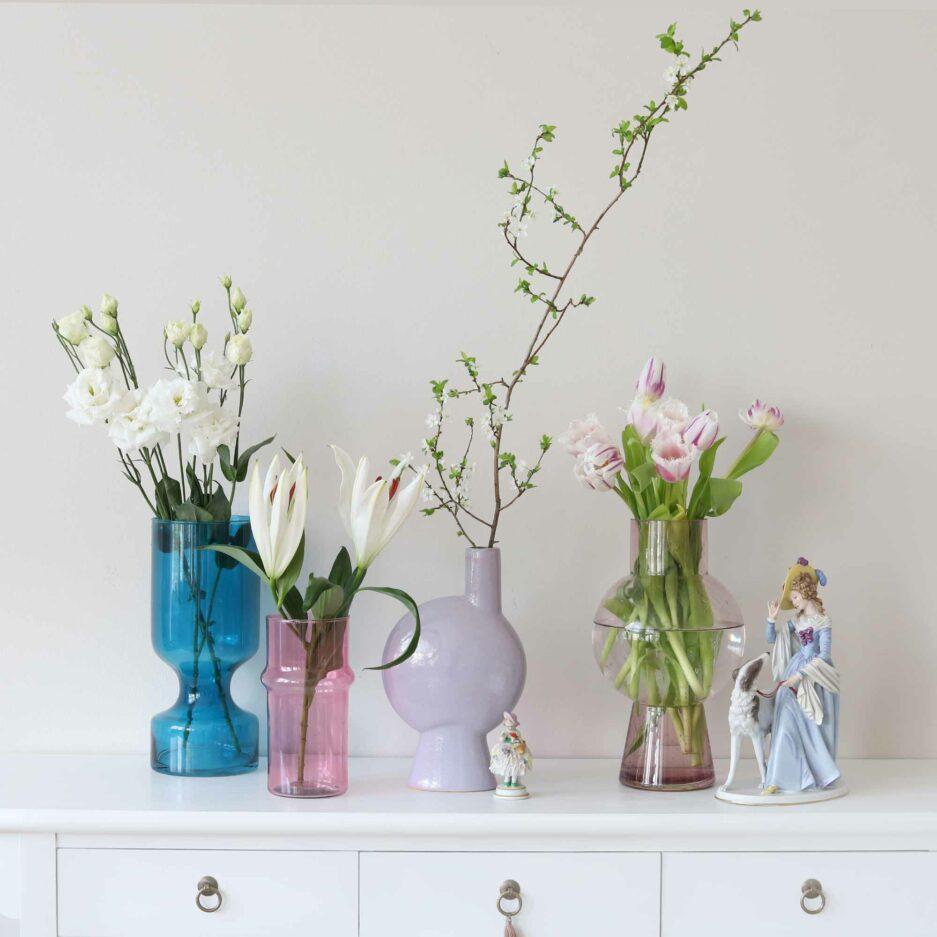 Vasen kaufen 2021. Blumenvase im maritimen Stil für hohe Blumen bei Soulbirdee kaufen